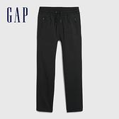 Gap男童 簡約風格鬆緊休閒長褲 594792-黑色