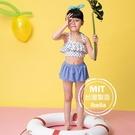 女童圓點荷葉背心泳裝泳衣泳裙 (附帽)現貨台灣製造美國杜邦萊卡【36-66-G-8H20804-21】ibella 艾貝拉