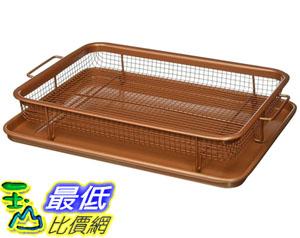 [8美國直購] 拖盤 Gotham Steel Nonstick Copper Crisper Tray - AIR FRY IN YOUR OVEN B01NAFY0W9 Medium