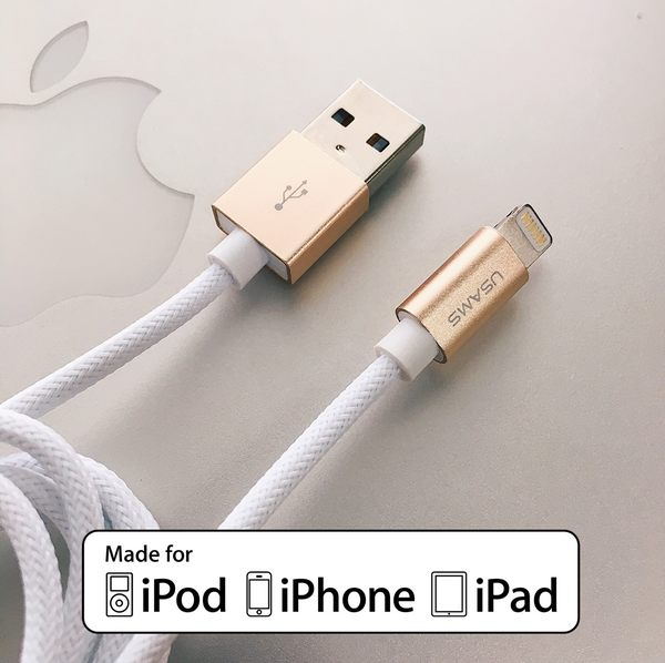 【Apple原廠認證 MFi 傳輸線-白色】lightning 充電線 i7 iPhone 7 Plus iPhone 6 i6s i6 i5s iPad Pro Air2 1.2M 120cm