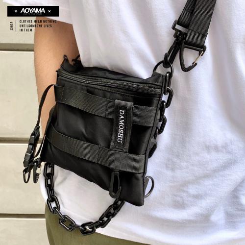 背包 TRAPBAE軍事工裝戰術小包【CX2031】 青山 斜背包 托特包 鍊條 胸包