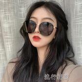 墨鏡女新款潮韓版圓形圓臉顯瘦網紅街拍個性復古ins太陽眼鏡 流行花園