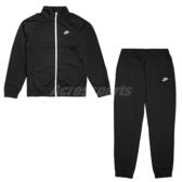 Nike 運動套裝 NSW Tracksuit 黑 白 男款 運動外套 長褲 【PUMP306】 BV3056-011