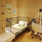 床架 鐵藝床白色公主床 歐1.21.51.8 單人雙人床 小戶型單身公寓兒童床