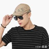 中大尺碼鴨舌帽字母刺繡男畫家帽前進帽女夏季防曬遮陽帽 nm4864【VIKI菈菈】