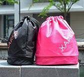 海灘包收納袋 游泳包乾濕分離女韓國便攜泳衣收納袋防水包男游泳裝備雙肩沙灘包 歐萊爾藝術館
