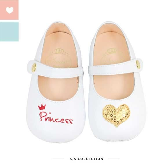 Swan天鵝童鞋-princess愛心寶寶學步鞋1517-白