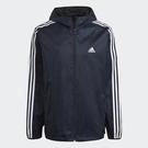 Adidas M Wv Wb [GQ0622] 男 外套 連帽 運動 休閒 耐磨 拉鍊口袋 防風 深藍風 深藍