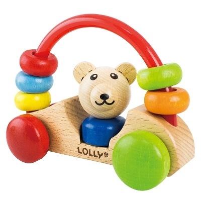 【佳兒園婦幼館】LOLLY 木製玩具-小熊號快樂車