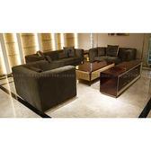 [紅蘋果傢俱] CT-030後現代客廳系列 1+3沙發 茶几 四斗櫃 歐式  高檔 簡約 不銹鋼輕奢