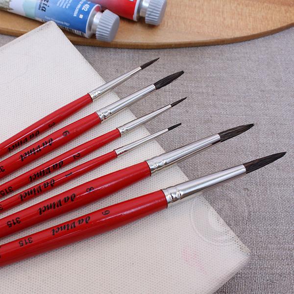 『ART小舖』Da vinci 德國達芬奇 學生級 315 紅桿動物混和毛水彩畫筆 0號 單支
