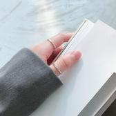戒指女純銀925韓國泰銀復古希臘古典字母文字戒指指環開口925 布衣潮人