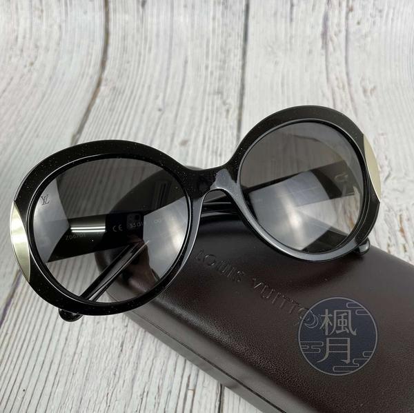BRAND楓月 LOUIS VUITTON LV Z0670E 黑色 閃閃 亮粉 圓形 墨鏡 太陽眼鏡 遮陽 配件