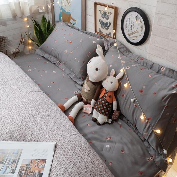 天絲床組 沈香落燼 DPM4雙人鋪棉床包鋪棉兩用被四件組(40支) 100%天絲 棉床本舖