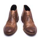 Vibram皮革鞋底沙漠靴#22344深...