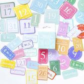 【BlueCat】No.23清新日付盒裝貼紙 手帳貼紙 (45入)