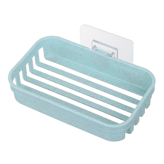 單層 肥皂盒 掛架 無痕背膠 掛勾 壁掛 收納 肥皂架 免打孔 瀝水 小麥壁掛肥皂架 MY COLOR【X008】