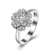 925純銀鑲鑽戒指-時尚高貴奢華閃耀情人節生日禮物女飾品73kz58[時尚巴黎]