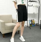 短褲 闊腿學生寬松訓練五分褲 巴黎春天
