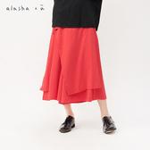 a la sha+a  舒適活片綁帶棉質寬褲裙