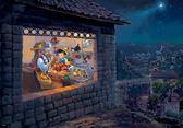 【拼圖總動員 PUZZLE STORY】油畫-許願星 日本進口拼圖/Tenyo/迪士尼/小木偶奇遇記/1000P