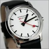 【萬年鐘錶】MONDAINE 瑞士國鐵 超薄皮錶 XM-672111