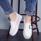 小白鞋子2019春季新款厚底一腳蹬女鞋正韓百搭懶人鞋樂福鞋單鞋夏