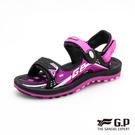G.P 雙層 舒適 緩震涼拖鞋 (G0791BW-15) 大童鞋 黑桃 NO.R5360