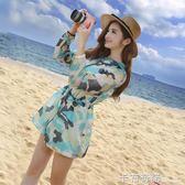 夏季新款防曬衣女中長款韓版超薄迷彩服防紫外線沙灘衫外套潮  卡布奇諾