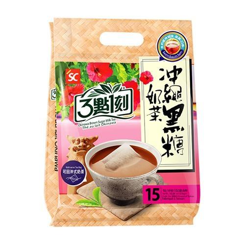 3點1刻沖繩黑糖奶茶(20g x15p/袋)【愛買】