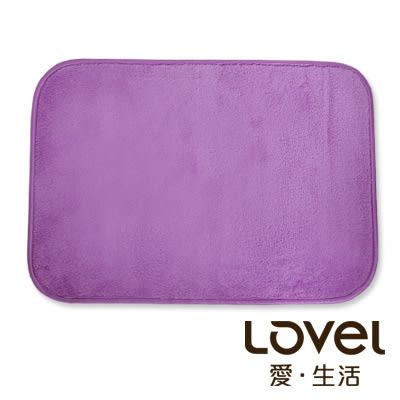 里和Riho LOVEL馬卡龍超細纖維止滑浴墊/地墊(魅力紫) 腳踏墊 防滑墊