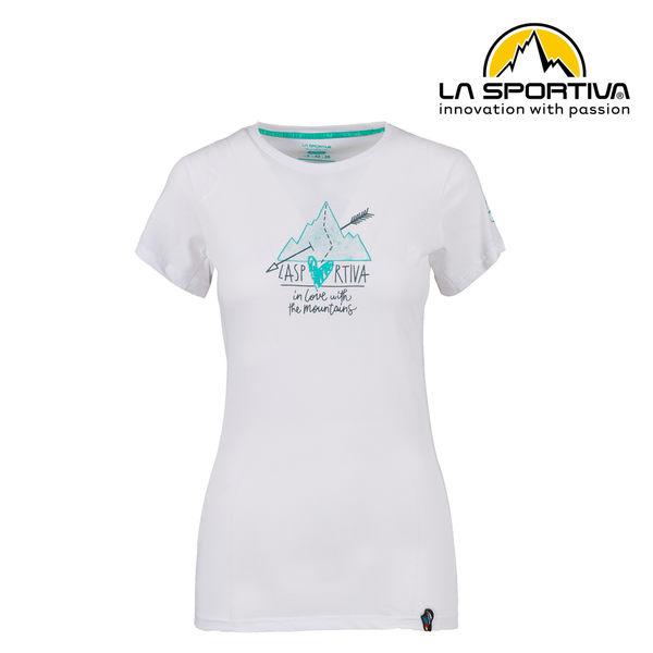 【義大利 LA SPORTIVA】Alakay T-Shirt 透氣短袖上衣 女款 白色 #O02000000