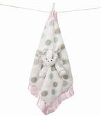 美國Little Giraffe【豪華系列】豪華彩色點點長頸鹿安撫巾-粉紅色