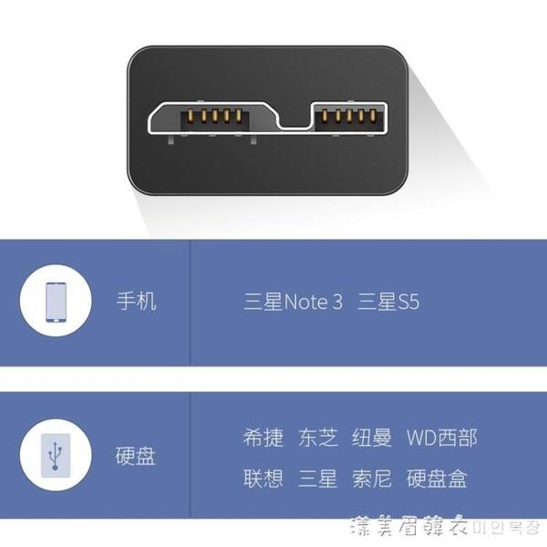 5數據線傳輸usb3.0充電線WD西部東芝希捷聯想索尼行動硬盤連接線seagate延長線 漾美眉韓衣