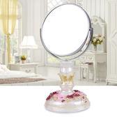 公主化妝鏡簡約梳妝臺式7寸高清雙面鏡田園時尚創意精美鏡子 sxx2443 【雅居屋】
