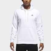 adidas 帽T Fleece Pullover Hoodie 白 黑 男款 長袖連帽上衣 【ACS】 DH9005