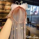 兒童發箍女韓國女童頭箍公主小女孩甜美可愛蕾絲王冠發卡頭飾發飾 范思蓮恩