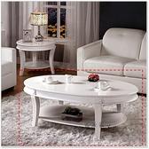 【水晶晶家具/傢俱首選】JM0251-3 迪諾130cm無鉛環保漆烤白大茶几