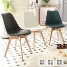 餐椅 書桌椅 萬用椅 盛開的北歐鬱金香實木餐椅 3色任選 【OP生活】 台灣現貨 快速出貨