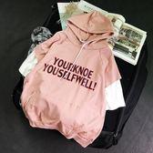 日韓版潮流原宿風寬鬆五分短袖t恤男個性街頭粉色上衣服 店家有好貨