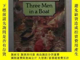 二手書博民逛書店英文原版罕見Three Men in a Boat by Jer
