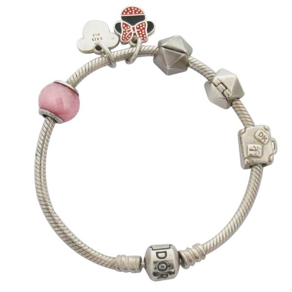 PANDORA 潘朵拉粉晶/米奇墜飾 925純銀手鍊手環 【BRAND OFF】