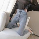 牛仔褲 直筒褲 九分褲 小腳褲S-2XL672#春裝2020新款顯瘦高腰九分牛仔褲女煙管直筒褲T524依品國際