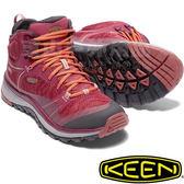 KEEN 1017690酒紅/紅 Terradora Mid女戶外防水登山鞋 運動健行鞋/多功能鞋/郊山健走/越野慢跑鞋