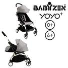 【現貨-第3代】法國 BABYZEN YOYO plus/YOYO+ 嬰兒手推車(6m+&新生兒套件) (白骨架) 灰色