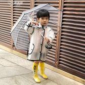 日韓兒童雨衣男童女童小童幼兒園寶寶小學生透明雨披雨具        伊芙莎
