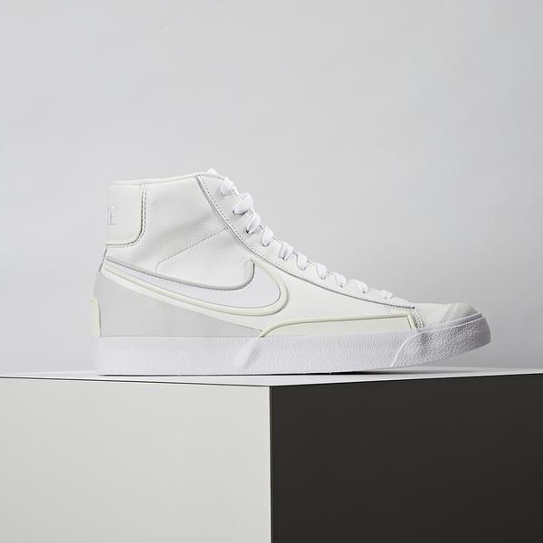 Nike Blazer Mid 77 Infinite 男鞋 白灰 復古 立體 高筒 休閒鞋 DA7233-101