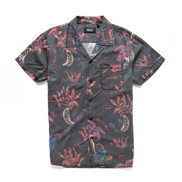 Deus Ex Machina Dean Pink Positive Shirt 短袖襯衫-(多色)