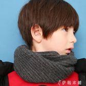 圍巾 童裝兒童潮流保暖圍巾中大童男童套頭圍脖 伊鞋本鋪