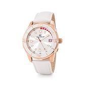 【Folli Follie】Lifetime Ora白金質感時尚真皮腕錶-純白款/WF18R032SDW_WH/台灣總代理公司貨享兩年保固
